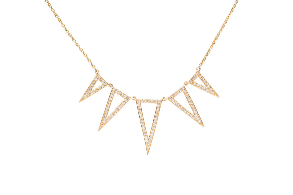 Diamond Open 5 Spike Necklace – EF Collection
