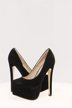 Nikki Suedette Round Toe Court Shoes at boohoo.com