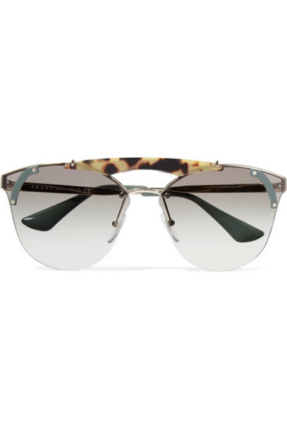 Prada sunglasses gold