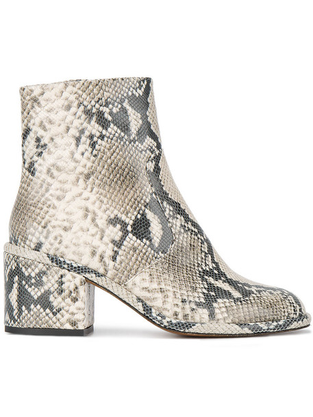 Robert Clergerie snake women snake skin ankle boots leather shoes