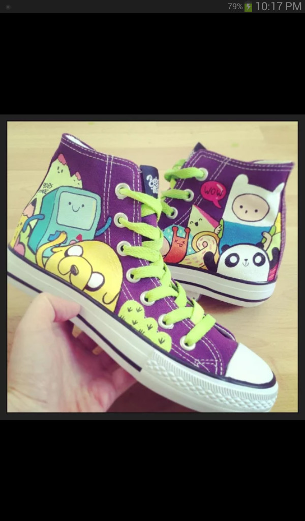 shoes adventure time shoes