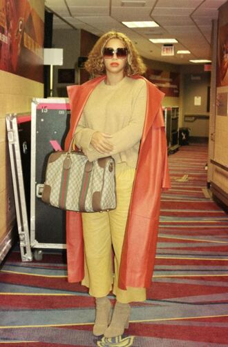 shoes boots pants coat beyonce sunglasses purse instagram trench coat fall outfits
