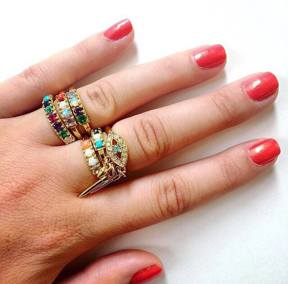 jewels ring rings and tings lulu frost bling-bling ring set