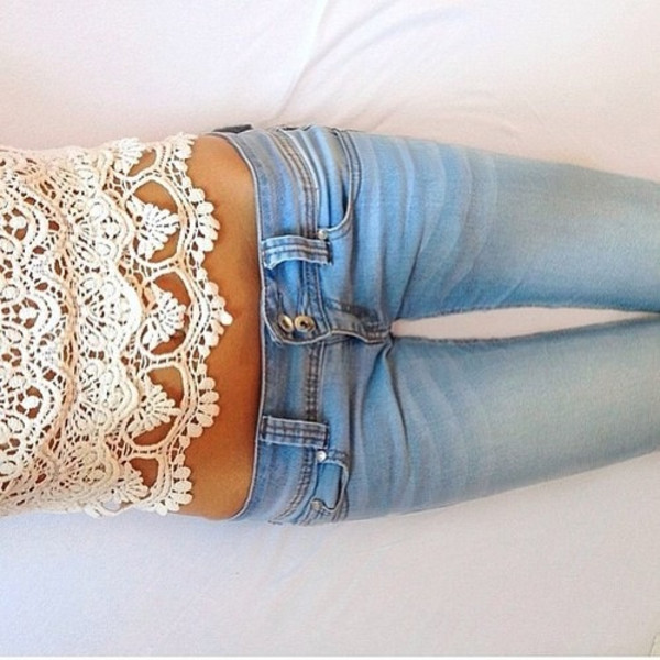 jeans pants skinny jeans light blue low waisted shirt