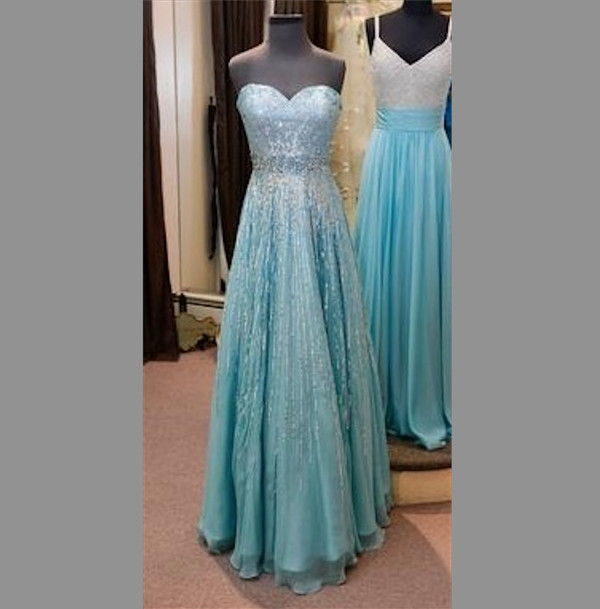 dress blue prom dress frozen blouse elsa gown long sleeveless