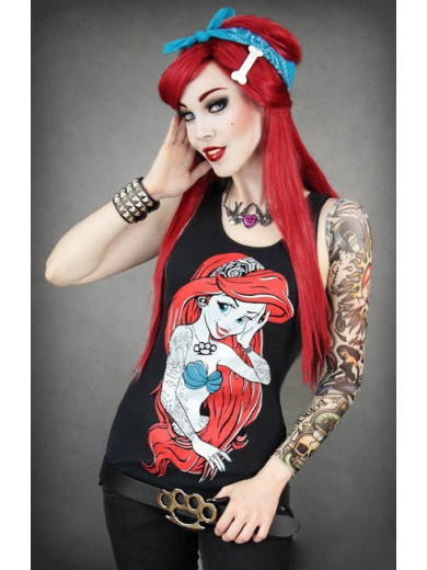Disney Restyle Rebel Ariel Mermaid Singlet Tank Tee Top