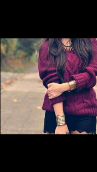 jewels bordeaux sweater
