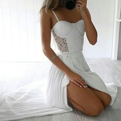 dress,white,white dress,bustier dress,crochet dress,lace dress,cute,cute dress,girly,girly dress,romantic dress,romantic summer dress,party,party dress,sexy,sexy party dresses,sexy dress,party outfits,elegant dress,cocktail dress,date outfit,birthday dress