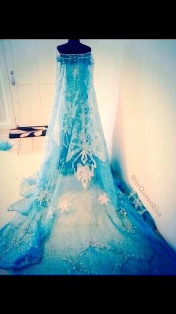 blue dress elsa frozen prom dress disney frozen elsa's dress