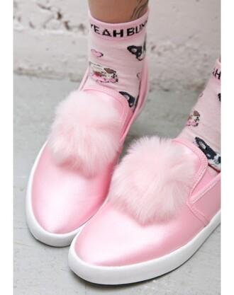 socks yeah bunny dog cute pink pastel frenchie pugs