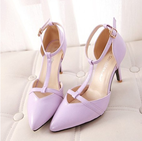 shoes wedding black purple high heels