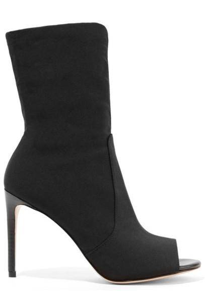 STUART WEITZMAN sock boots black knit shoes