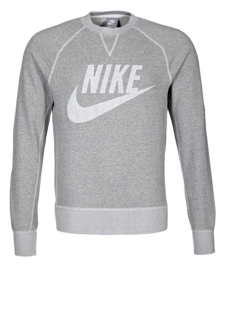Nike Sportswear VINTAGE MARL LOGO CREW - Sweatshirt - grey - Zalando.co.uk