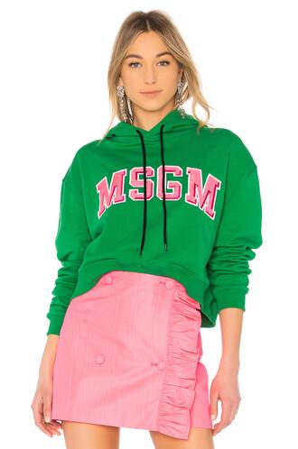 sweatshirt cropped green sweater