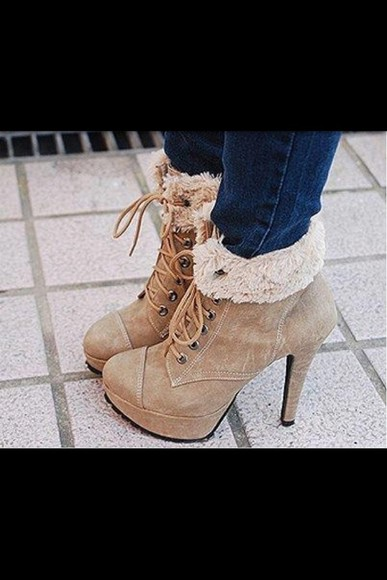 tumblr shoes boots winter boots ankle boots cute cute high heels ....nice tumblr clothes tumblr outfit tumblr fashion christmas christmas present