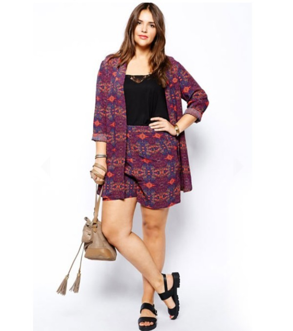 plus size matching shorts and top hippie hippie chic hipster