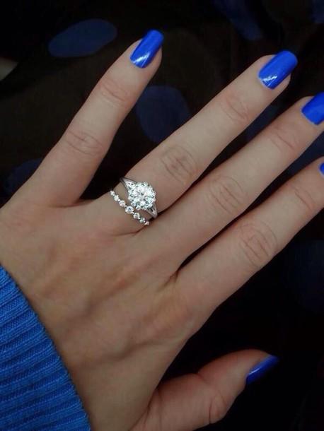 jewels silver ring rhinestones