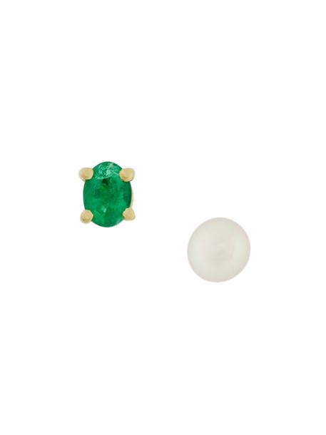Wouters & Hendrix Gold pearl earrings women pearl earrings gold yellow grey metallic jewels