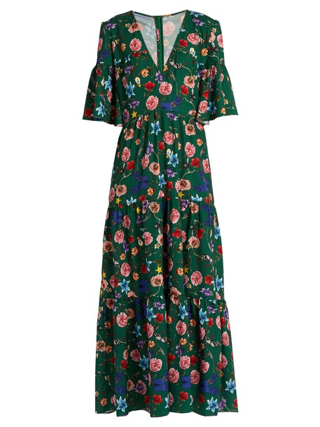 Borgo De Nor dress maxi dress maxi print green