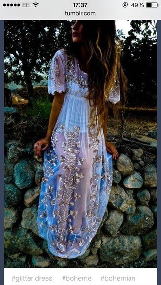 dress sequin dress boho dresses hippie