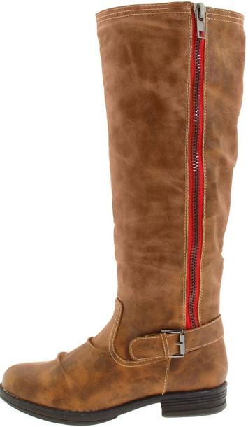 e652d64fba0 shoes steve madden steve madden boots boots riding boots knee high riding boots  red zipper boots