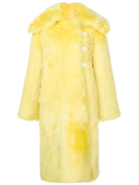coat oversized women yellow orange