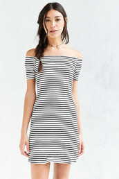dress,stripes,striped dress,off the shoulder,off the shoulder dress,bodycon dress,short dress