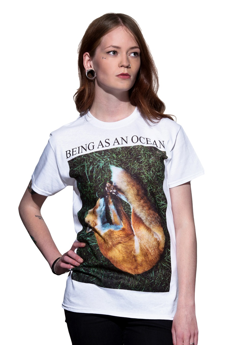 Being As An Ocean - Sleeping Fox White - T-Shirt Merch Store - Impericon.com UK