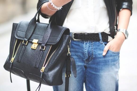 black zipper bag satchel bag pashli leather