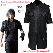 jacket,final fantasy 15 jacket,noctis lucis caelum jacket,gaming costume,video game jacket