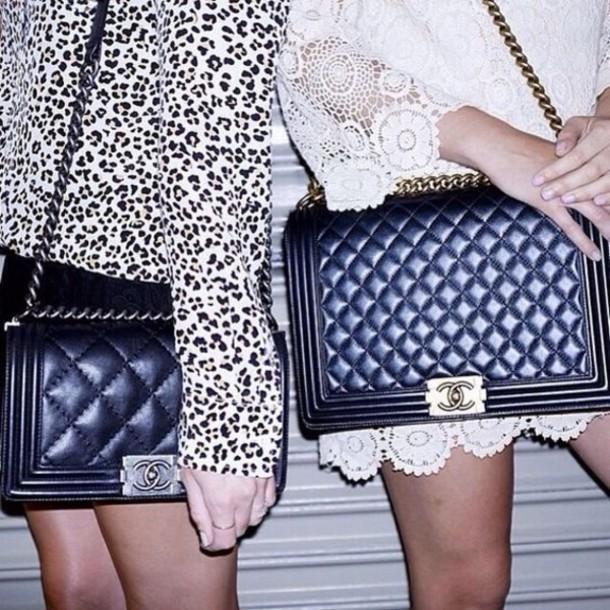 2d36e5eeea7b bag black bag chanel bag chanel boy bag boy bag chanel boy dress lace dress  mini