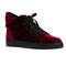 Virtue velvet sneaker - deep red