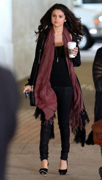 shoes selena gomez jeans top cardigan scarf jewels
