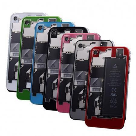 innovative design 68408 193e9 Clear Colorful Through Glass Battery Back Cover with Tool for iPhone 4 4S |  eBay