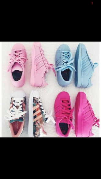 shoes rose pink baby blue blue adidas adidas shoes