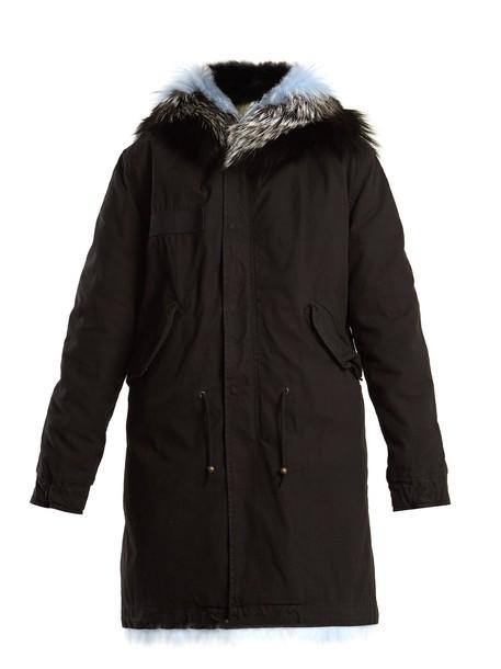 Mr & Mrs Italy parka fur black coat