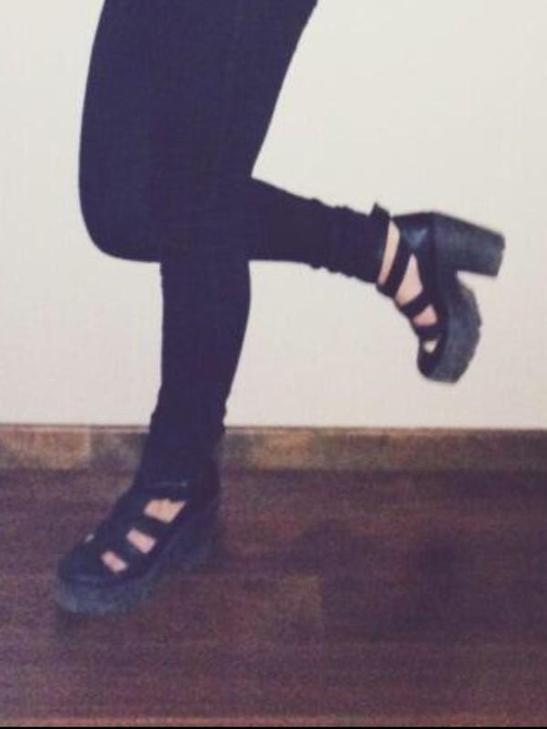 shoes black boots platform boots platform high heels platform sandals andrea russett