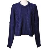 navy sweater,textured sweater,sweater