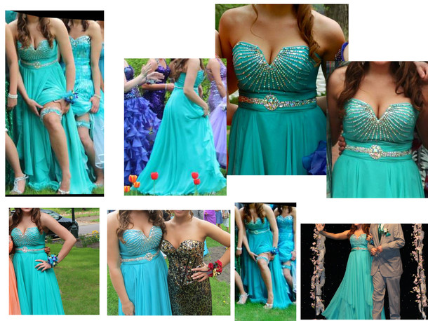 dress blue blue dress cleavage prom dress prom homecoming homecoming dress teal