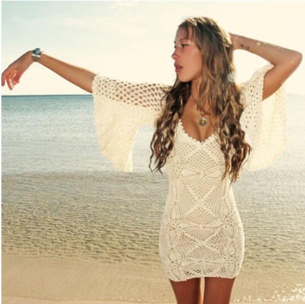 Crochet White Dress : ... 610x610-dress-summer+dress-crochet-crochet+dress-white+dress.jpg