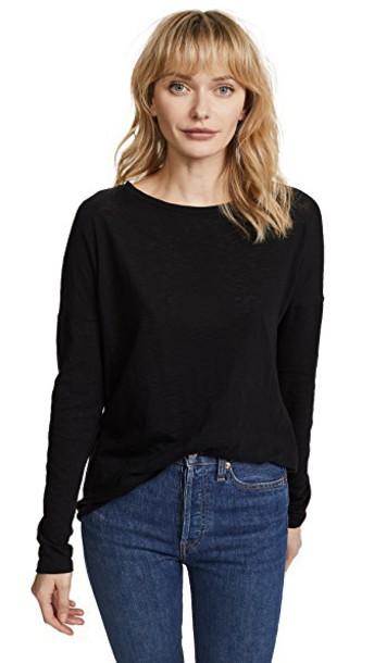 long cotton black top