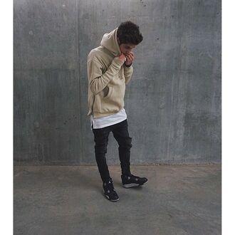 sweater maniere de voir beige hoody beige