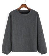 sweater,grey,pullover,oversized,tumblr,underwear,bralette