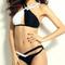 Black & white cross-cross bikini – dream closet couture