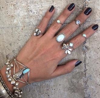 jewels bracelets silver rings turqoise