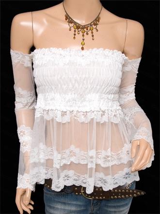 blouse lace top lace shirt