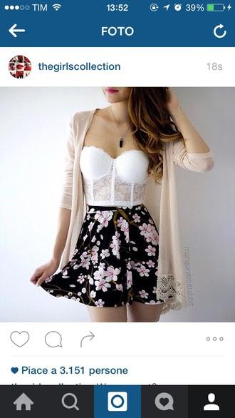 top bralette lace bustier white lingerie underwear