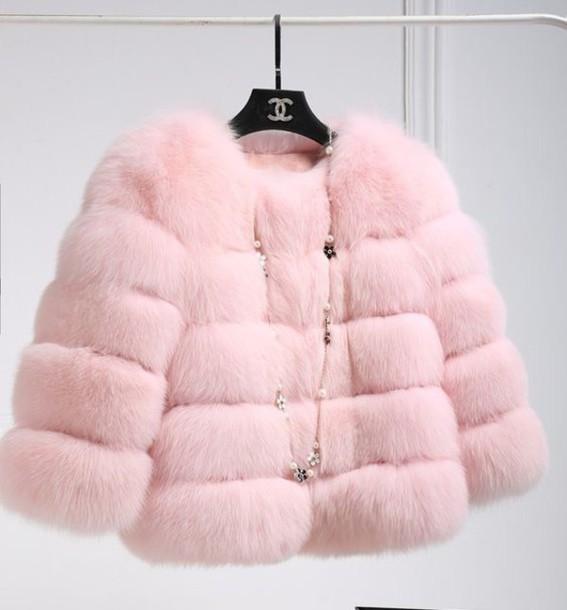 coat pink fur pinterest jacket