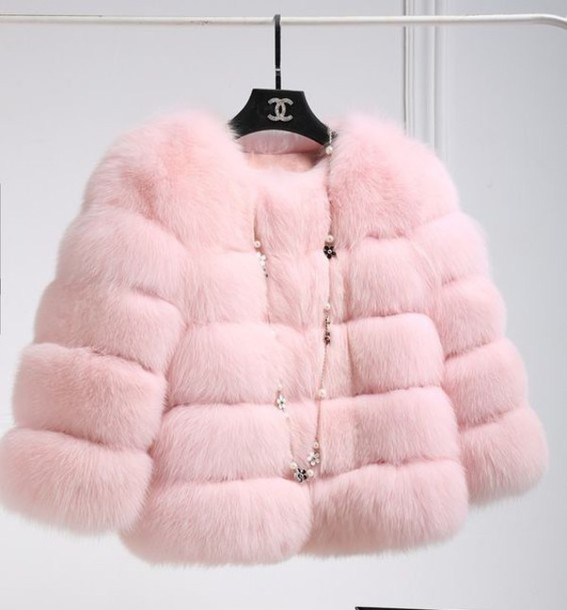 coat pink fur pinterest
