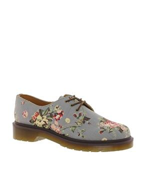 Dr Martens | Dr Martens – 1461 – Flache Schuhe aus bedrucktem Denim bei ASOS